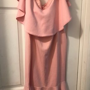 Dresses - Pink Off The Shoulder Dress